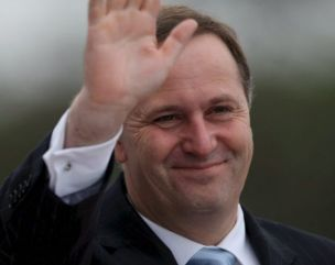 No laughing matter: New Zealand's prime minister John Key