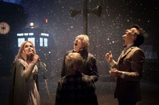 Katherine Jenkins works her magic on Michael Gambon and Matt Smith in the Doctor Who Christmas special