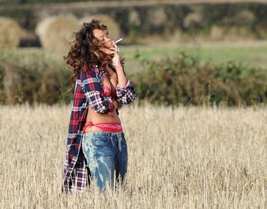 Rihanna filming music video in Bangor, Northern Ireland