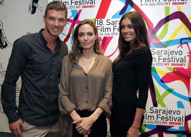 Angelina Jolie and Edin Dzeko