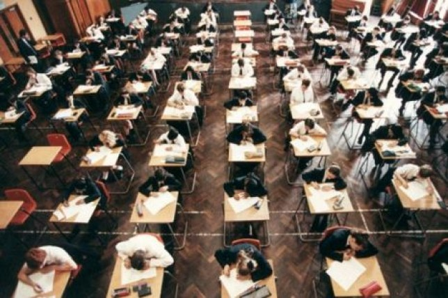 A-level maths student re-sits exam