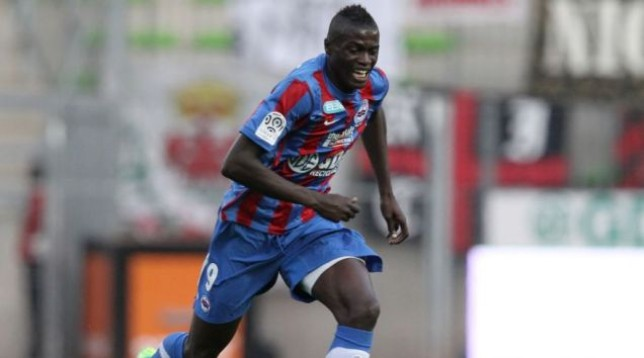 M'Baye Niang in action for Caen